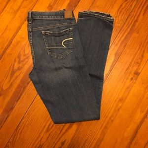 AE size 14 long skinny jeans
